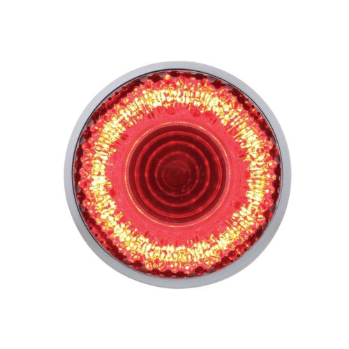 "9 LED 2"" Clearance/Marker ""Mirage"" Light - Red LED/Clear Lens"