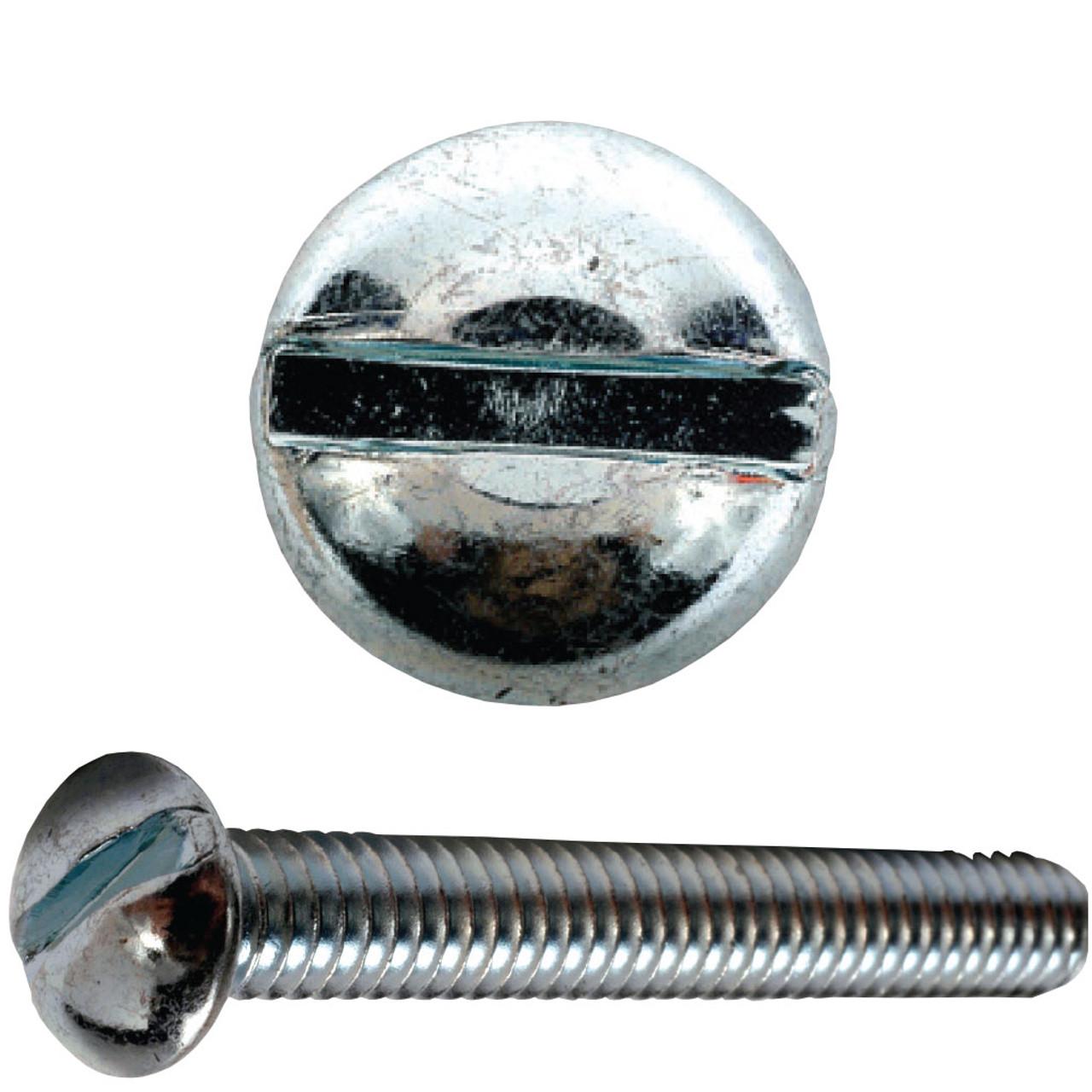 10-32 X 1 1//4 Slotted Round Machine Screw Brass Package Qty 100