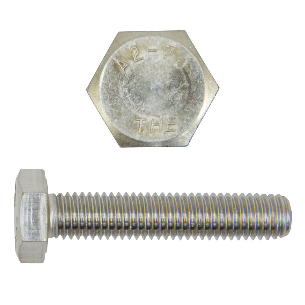 M16-2 X 40 Hex Head Cap Screw Full Thread A2 Stainless Steel Package Qty 100