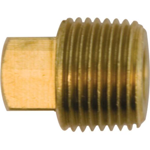 "ZORO SELECT 156-020 1-1//4/"" MNPT Brass Square Head Plug"