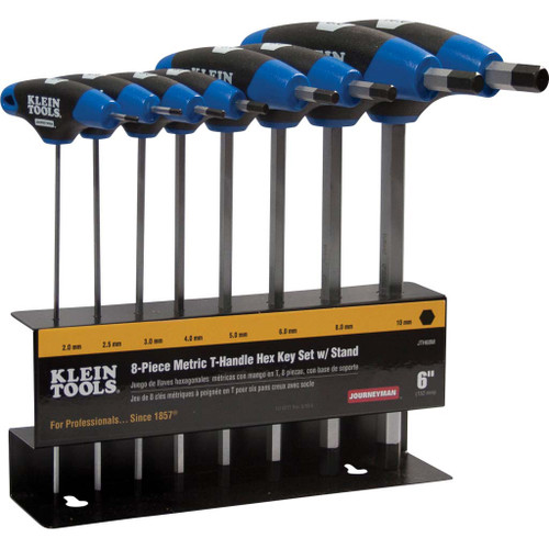 10-Piece T-Handle Set Journeyman SAE Blade-Through Handle Design with Stand
