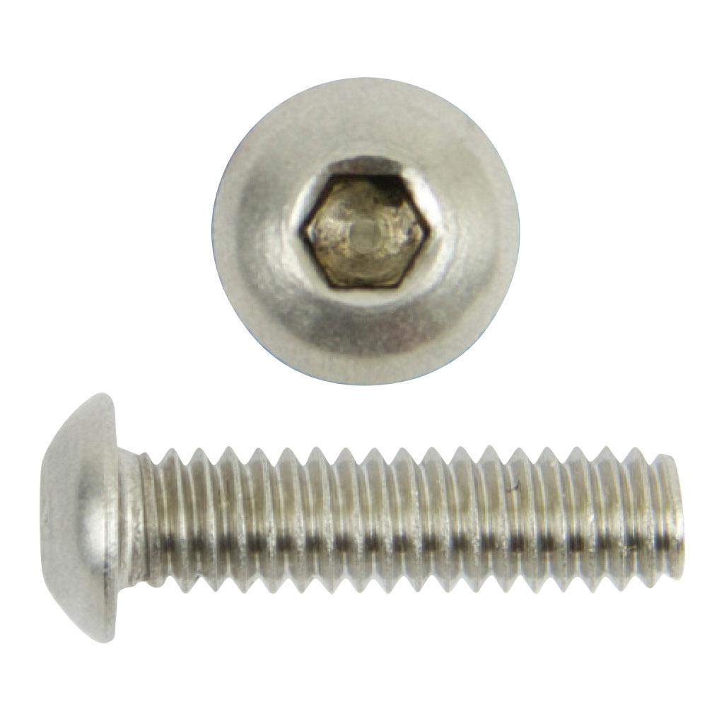 "Button Socket Cap Screws Stainless Steel 1//4-20 X 2/"" Qty 10"