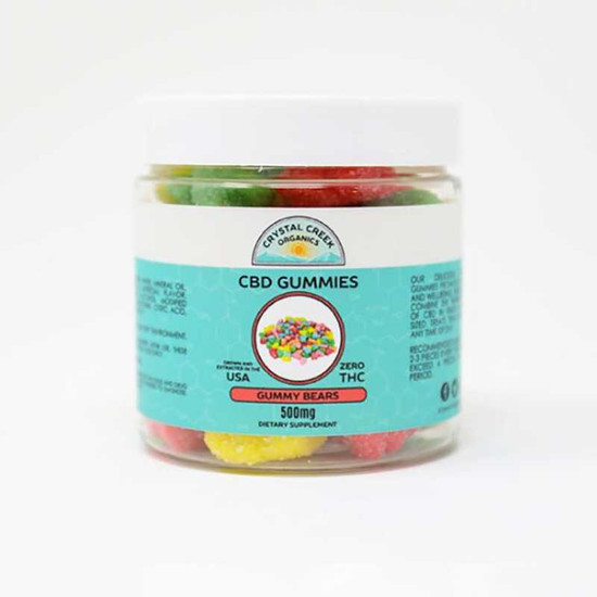 Crystal Creek Organics 500mg CBD Gummy Bears Crystal Creek Organics