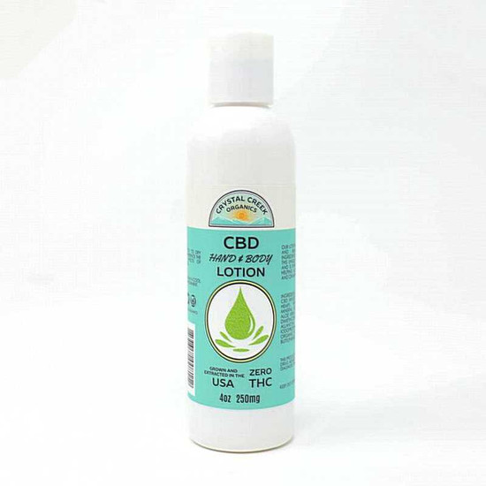 Crystal Creek 250mg CBD Hand & Body Lotion 4 oz Crystal Creek Organics