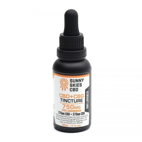 CBD + CBG Tincture Unflavored 750 mg