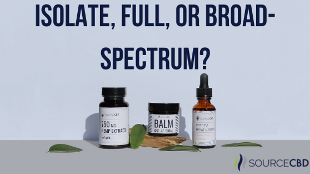 Isolate, Full, or Broad-Spectrum?