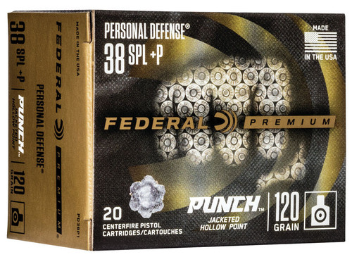 Federal Personal Defense Punch 38 Special +P 120gr 20 Rd Box