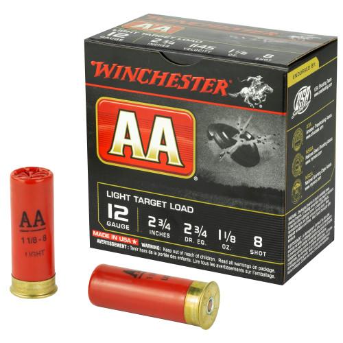 """Winchester AAT 12 Gauge 2.75"""" 8 Shot 1 1/8oz 25 Rd Box"""