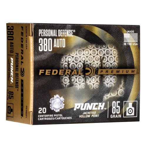 Federal Punch .380 Auto JHP 85gr 20Rd Box