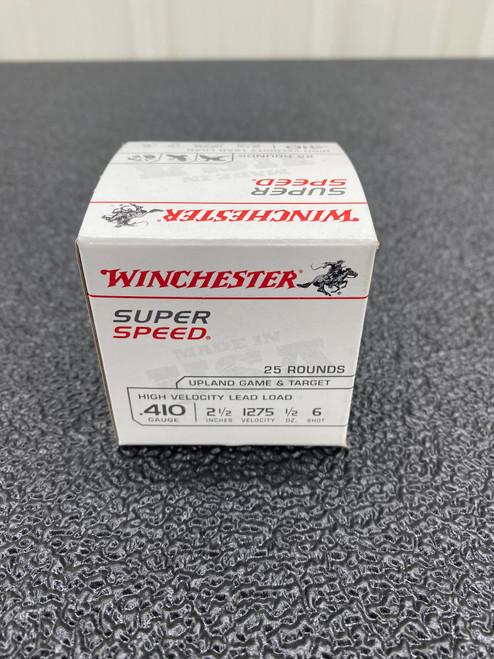 "Winchester SS .410 2 1/2"", 1/2 oz, 6 shot 25Rd Box"