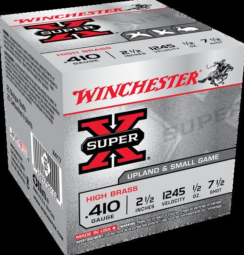 "Winchester SX .410  2 1/2"", 1/2 oz, 7 1/2 shot 25Rd Box"