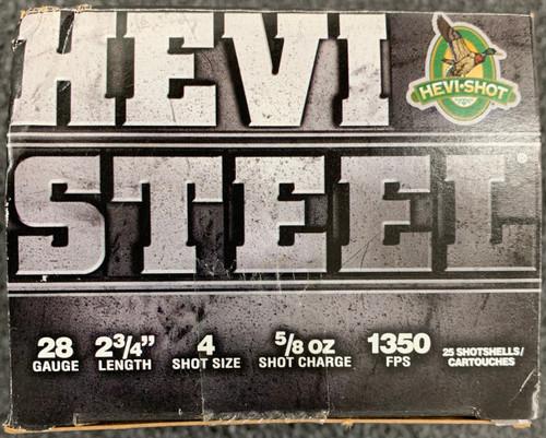 "HEVI-Shot HS 28GA, 2.75"", #4, 25 Rd box"