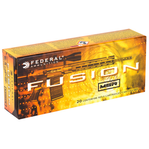 Federal Fusion MSR, 6.5 Gren, 120gr, SP, 20 rd box