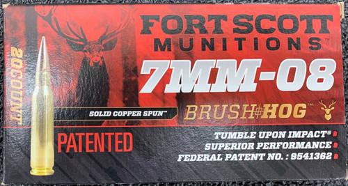 Fort Scott 7mm-08 Rem, 120gr, TUI, SCS non-lead, 20 rd box