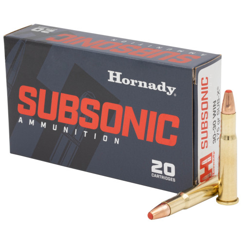 Hornady 30-30Win, 175gr, Sub-X, 20 rd box