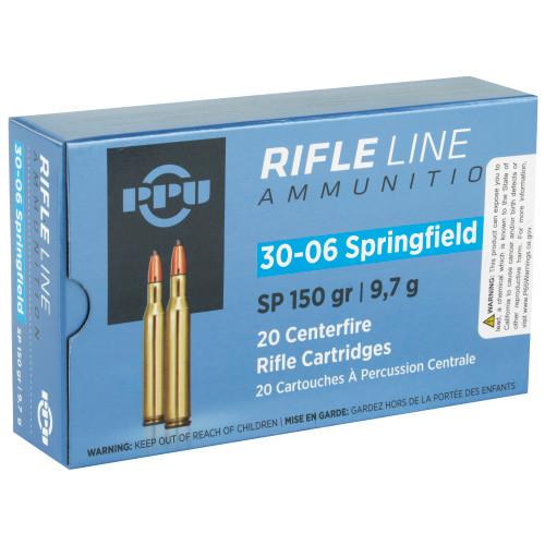 PPU 30-06, 150 gr, SP, 20 rd box