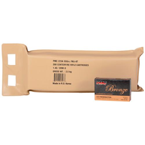 PMC Bronze 223Rem, 55gr, FMJ, 10-box bulk pack
