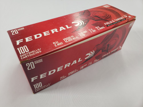"Federal F&T 20GA, #7.5, 0.875 oz, 2.75"", 100 rd box"