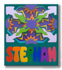 Childs Wood Custom Name Puzzle   3 Layer Starburst