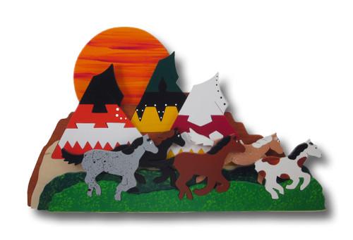 3D Wood Horse Puzzle