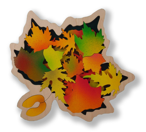 A 2-Layer Coffee Table Puzzle   Maple Leaf