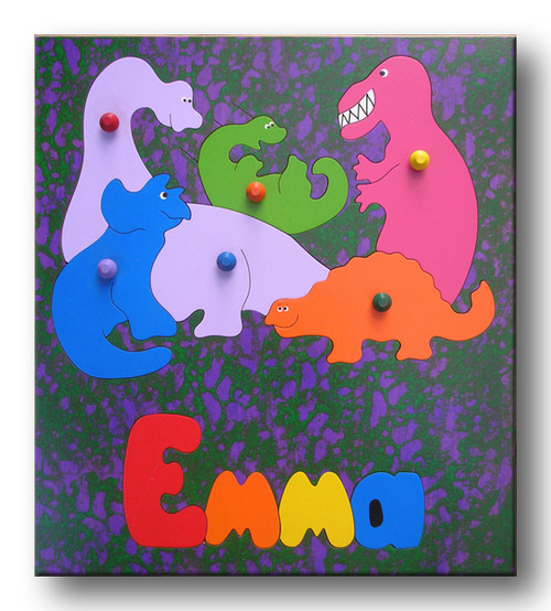 Name Puzzle with Dinosaurs