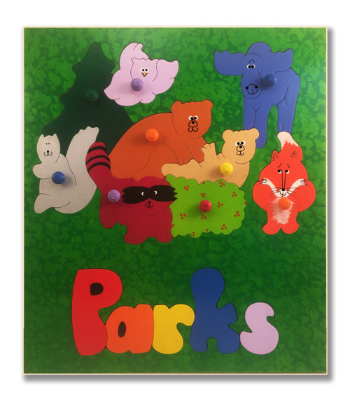 Name Puzzle for a child | Forest Animals