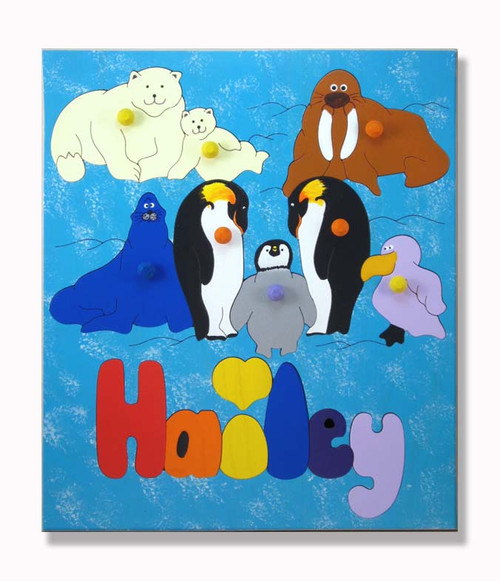 A polar animal puzzle for kids who like the cold!