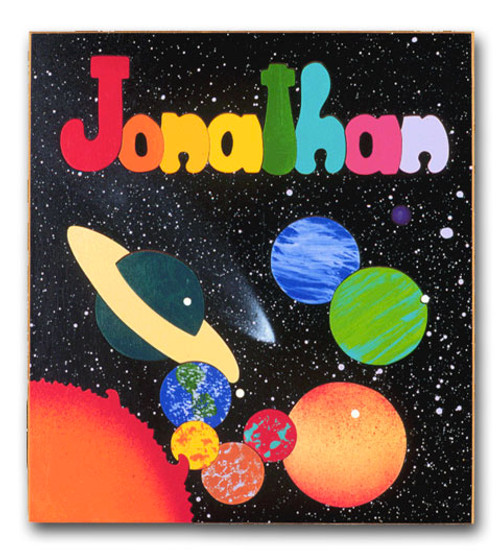 Wooden Puzzle with Kids Name Outer Space Planets