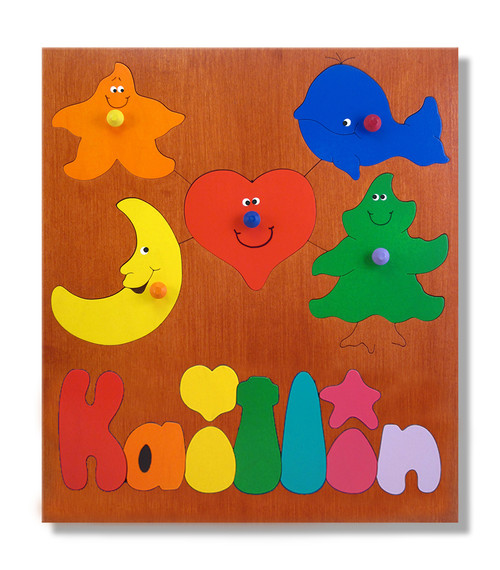 Toddler Name Puzzle | Basic Shapes