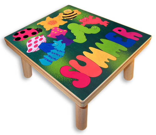 Puzzle Stool with kids name