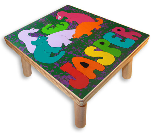 Name Puzzle Stool | Dinosaurs