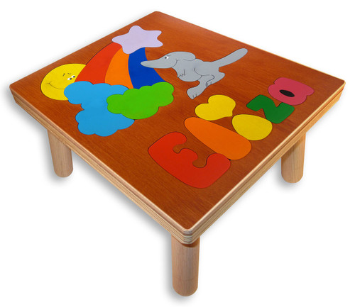 Name Puzzle Stool for young child