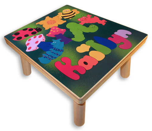 Puzzle  Step Stool with childs name