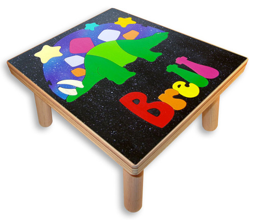 Dinosaur Name Puzzle  Stool for a child