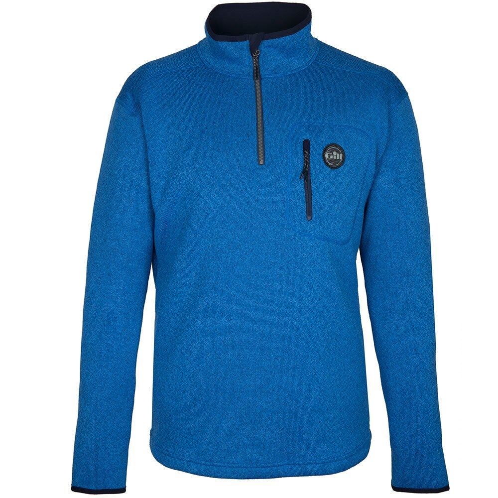Gill Mens Knit Fleece Blue