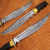 Custom Made Damascus Outstanding American Bowie Knife Micarta Wo