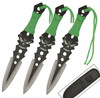 Zombie Killer Virulence Three-Piece Throwing Knives