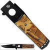 Kennesaw Battlefield Natural Camo Grip Folding Knife Very Sharp 9in