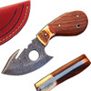 WHITE DEER Exclusive Damascus Steel Guthook Hunting Knife