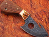 WHITE DEER Exclusive Damascus Steel Guthook Hunting Knife with Stag Antler