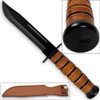 US Navy Reproduction WWII Fighting Knife Kabar-style Combat Type Leather Grip