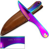 Jack Ripper Trinity Titanium Throwing Knives Set Coated Iridescent 6in 3pcs Knife
