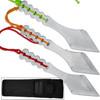 Ninja Warrior Tanto Throwing Knives Set of 3 Kunai Red, Orange,