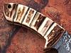 Damascus Steel Skinner Knife (Stag Handle & Gut Hook)