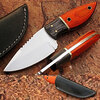 German J2 Hardened Steel Handmade Skinner Knife w Frostwood Handle