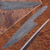 Damascus Full Tang Ladder Pattern Blank Chef Knife 1
