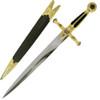 Masonic Dagger Sword with Handle, Black Velvet