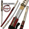 MOSHIRO - Zetsurin Sword w/ Knife Full Tang - Red Saya
