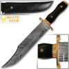 White Deer Handmade Damascus Steel Jim Bowie Knife